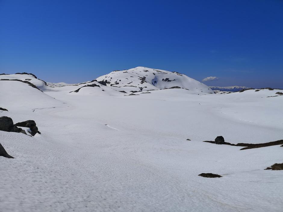 Utsikt mot Iendefjell (fra Østsiden av Gråursvatnet)