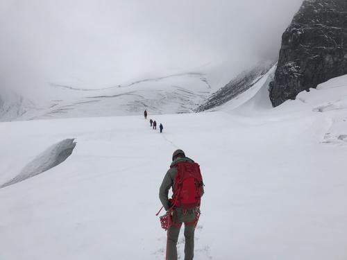 Utfordrende rutevalg opp Bjørnbrean