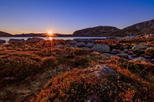 Solnedgang over Urdalsknuten
