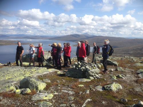 4. september var Seniorgruppa på rundtur over Gravolskampen