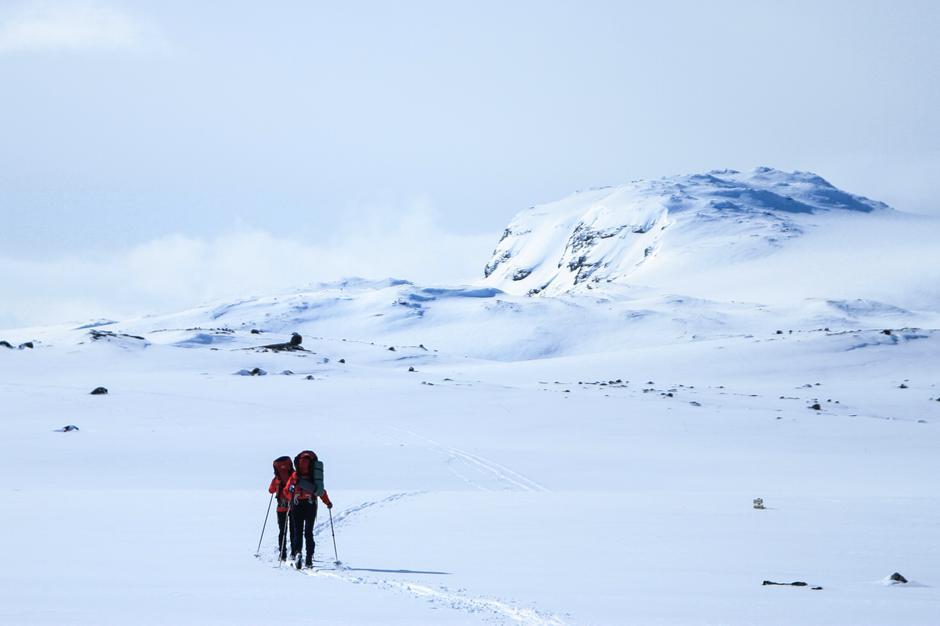 Populær hytte for turfolket. Her på vei sørover på Hardangervidda.