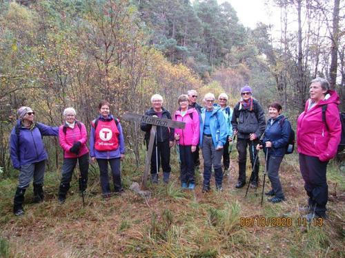 Tirsdagsgruppa på tur 06.10.2020 til Stordalen og Laksen.