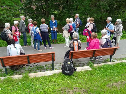 Seniorgruppa på tur langs Akerselva