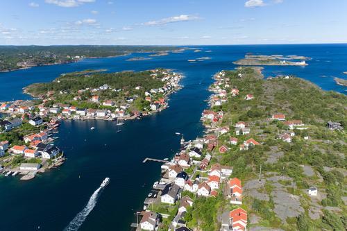 Drone bilde av Lyngør eiet av Øystein Løvendahl