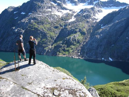 Trollfjordturen utsikt mot Trollfjordvannet 25.07.10