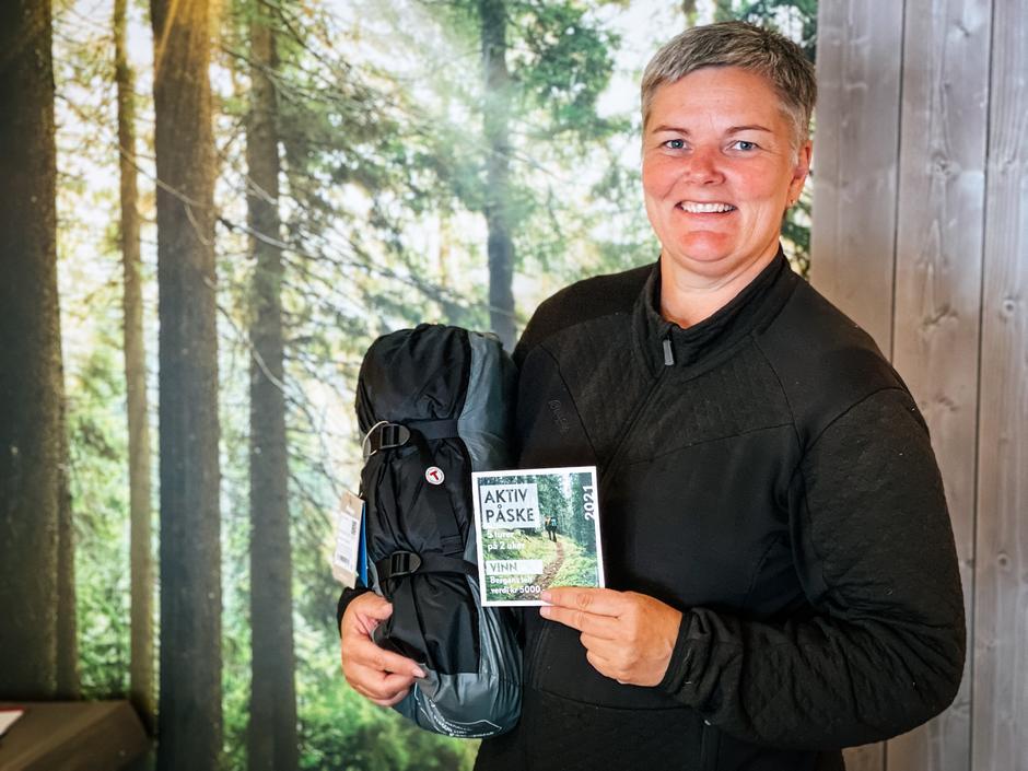 Frøydis Vaagsland fornøyd vinner av Aktiv Påske!