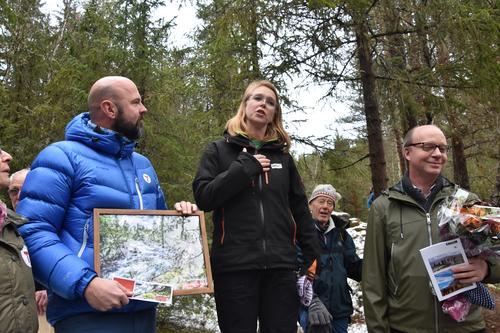 DNTs generalsekretær Dag Terje Klarp Solvang og Maren Esmark, generalsekretær i Naturvernforbundet.
