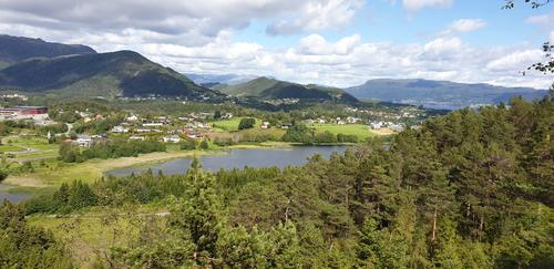Utsikt fra Liafjellet