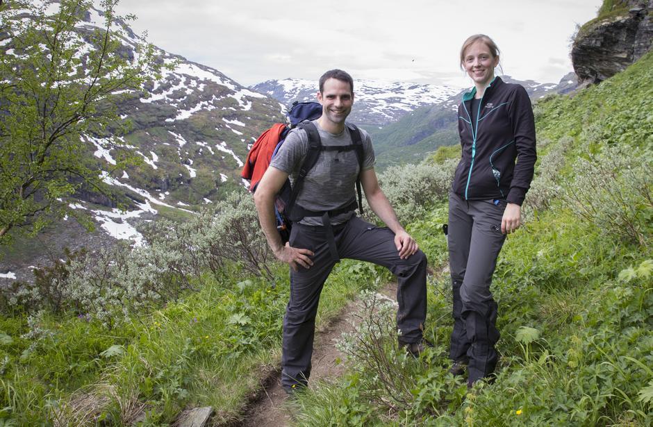 Henning og Susanne fra Tyskland la sin bryllupsreise til Aurlandsdalen.