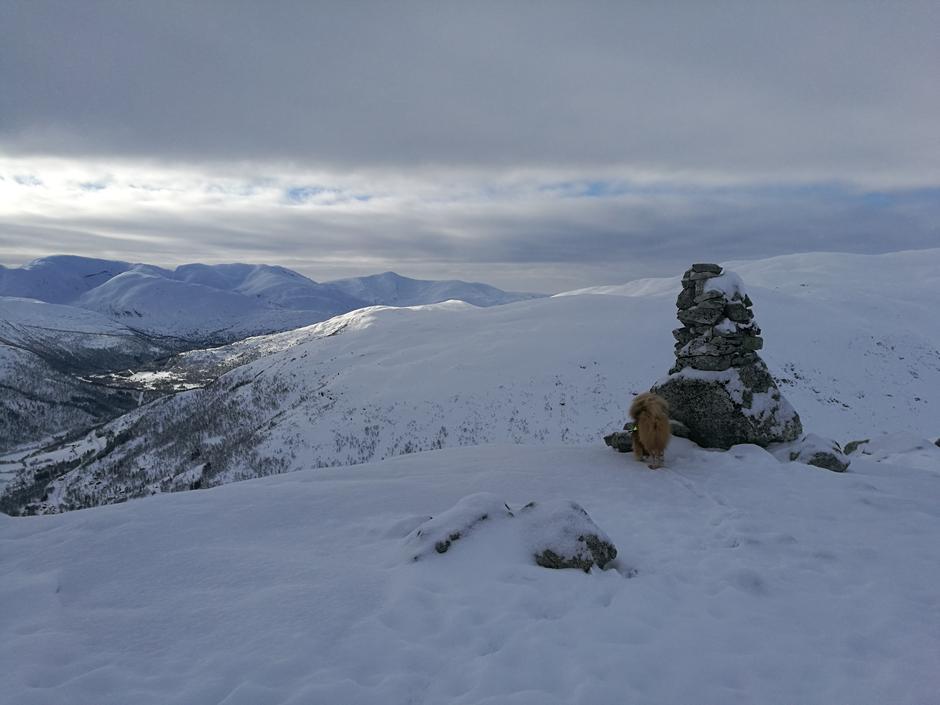 Fine snøforhold i Raundalen, her fra Rojaneggi.