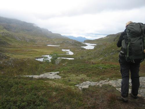 Flott utsikt mellom Blomestølen og Sandvass