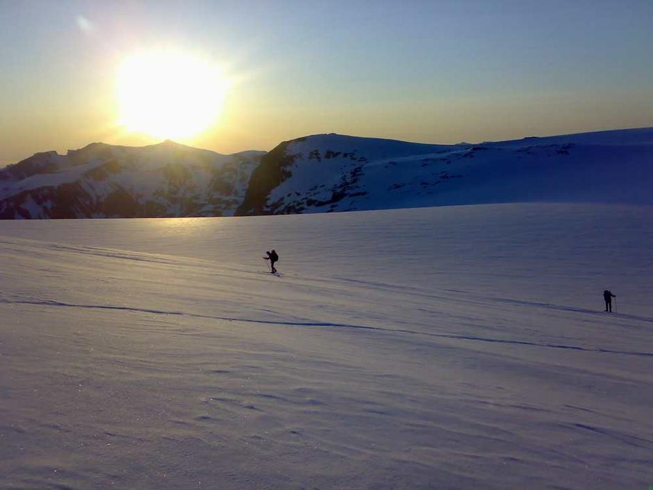 På tur over isen