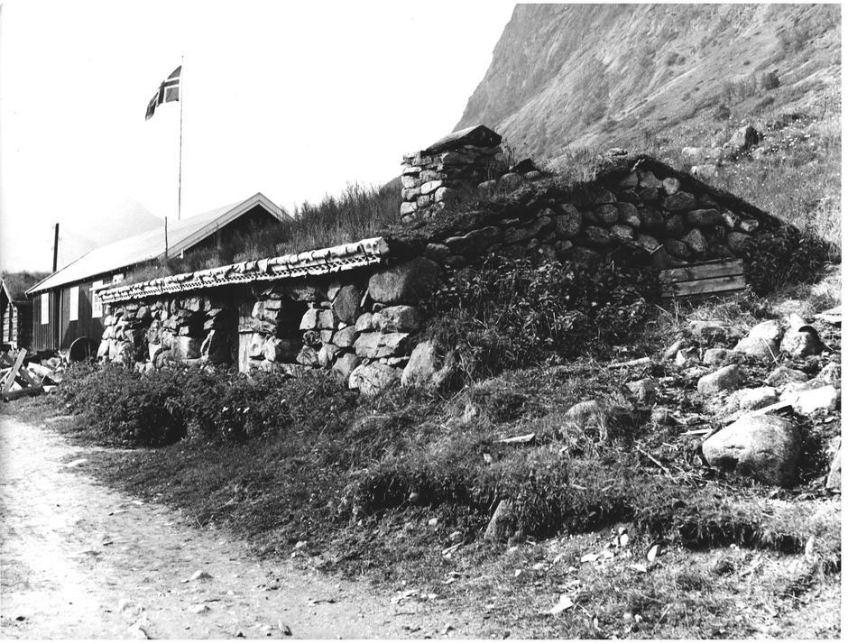 Den gamle steinbua på Gjendebu hvor Gjendine Slålien ble født i 1871.