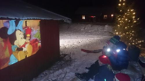 Julekino i snøen