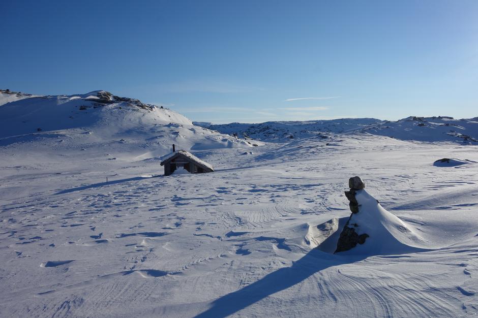 Lørdag 2.2: Fjellvassbu. Rute fra Stordalen til Vardadalsbu