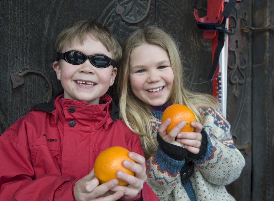 DNT og Norsk Folkemuseum arrangerte morsomme aktiviteter for barna da DNT-hytta Hovinkoia åpnet 17. februar.