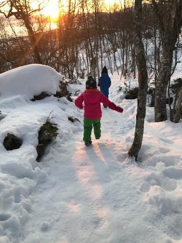 Tur i den første vintersola