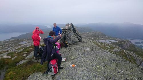 Bilete frå turen over Daurmålseggi i 2017