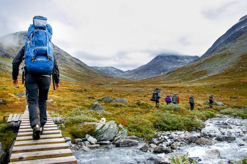 Flott og variert natur i Tafjordfjella.