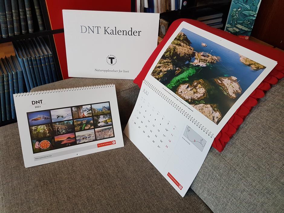 DNT kalenderen for 2021 har ankommet vår butikk.