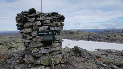Runderabben 1292 m.o.h - høgste fjellet i Modalen og Nordhordland