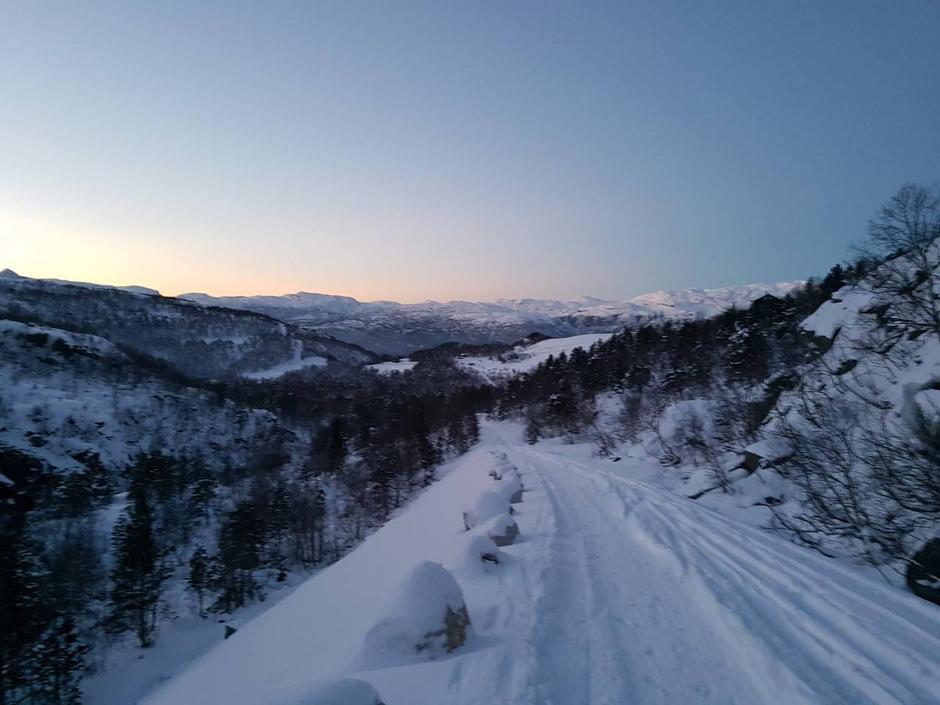 Suldal Kjetilstad 600 moh 16. Januar 2017 Fine forhold.