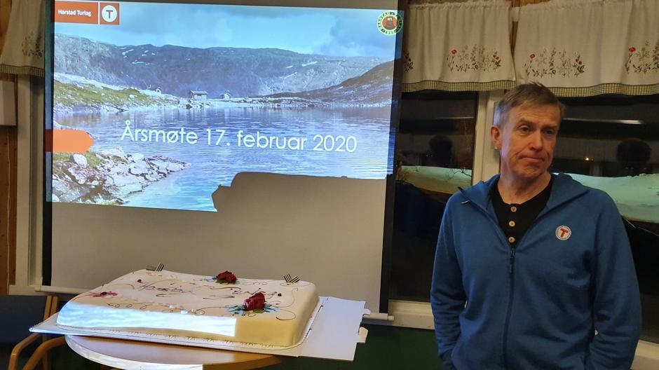 Avtroppende styreleder Nils Erik Bakke gikk gjennom aktiviteten i turlaget i 2019.