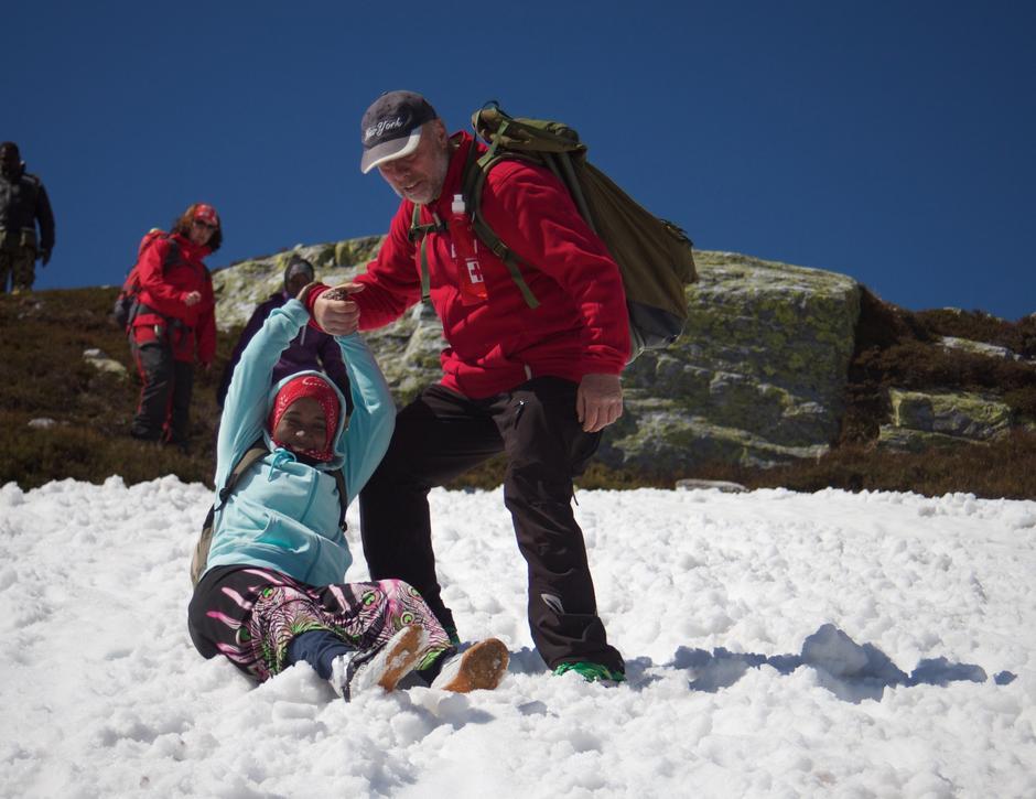 Glede i snøen på Blefjell