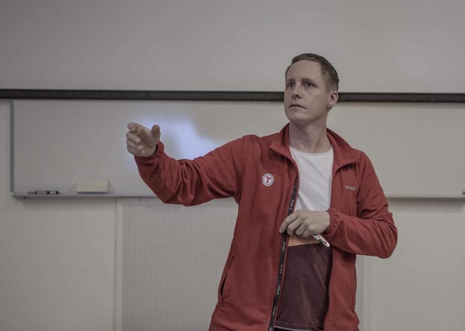 Styreleder i BOBTOG, Kristoffer Olofsson, ønsker velkommen til skredseminar