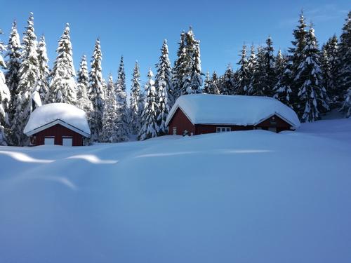 Herlig snørik vinter på Lindsverkseter