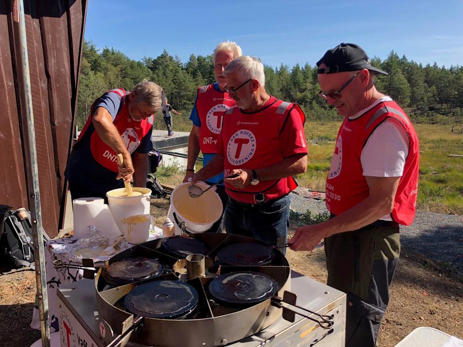 Vaffelkarusell på Kom deg ut-dagen i Mossemarka med DNT Vansjø