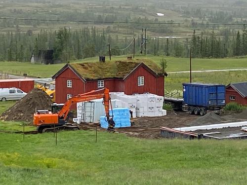 Byggeaktiviteter ved Bjørneggen