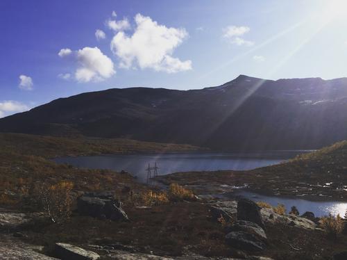 Høstkos ved Trollvannet, Tjeldøya
