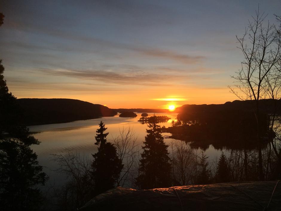 Kyststien Åros, soloppgang