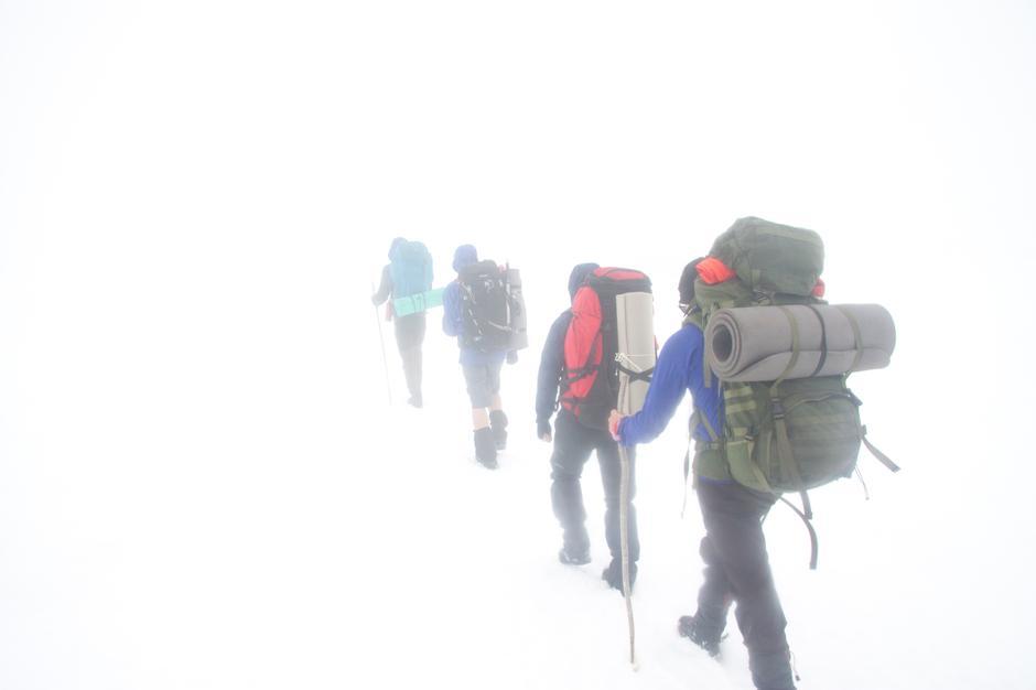 White-out på vei til Norddalshytten.