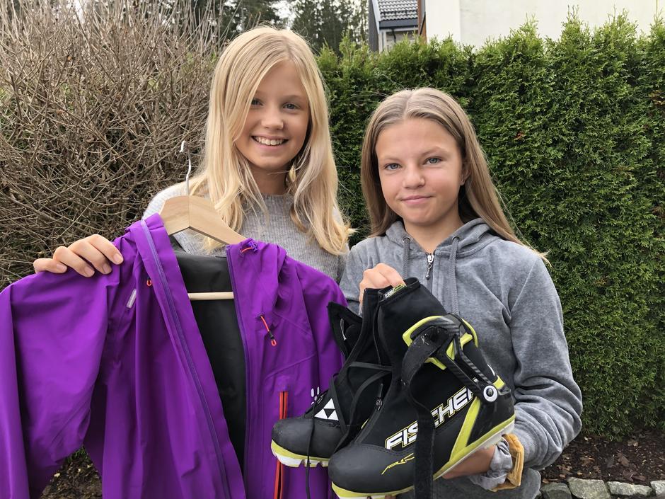 Nathalie og Astrid er blant initiativtakerne til Grønn Fredag i Lørenskog