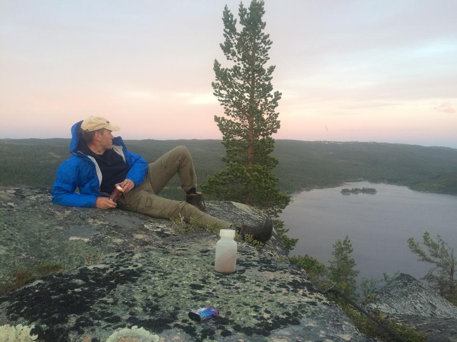 Erik Brenden nyter utsikten