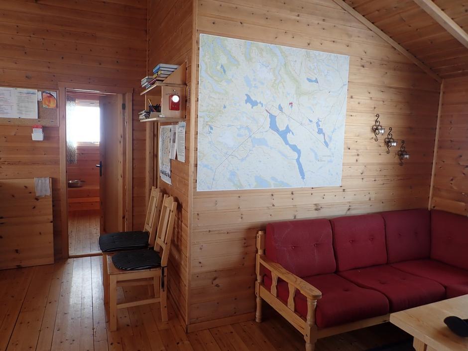 Veggkart på NOT-hytter