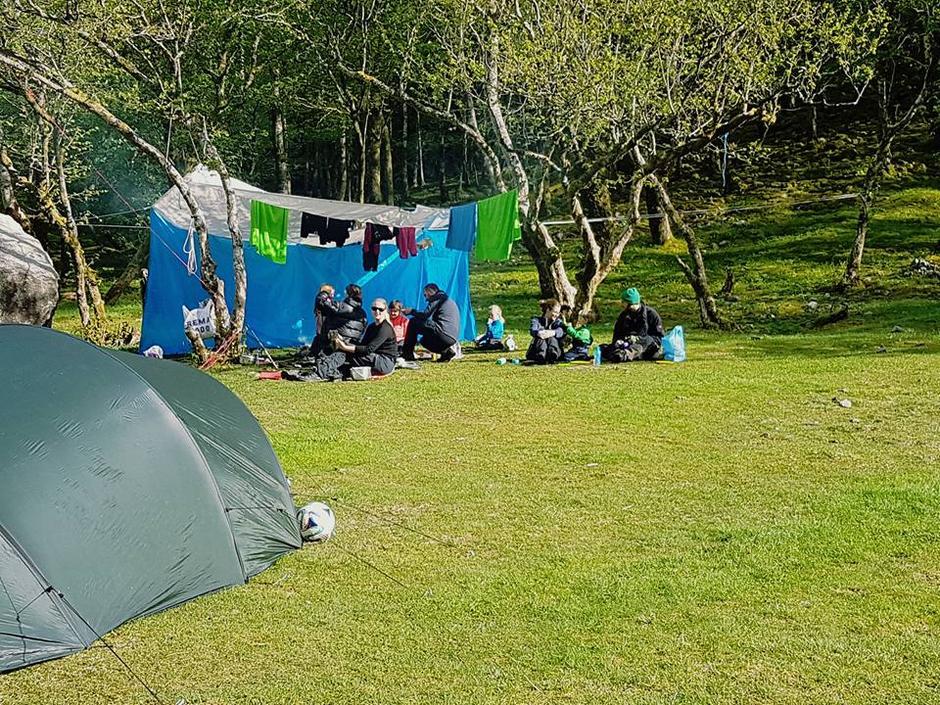 21. mai Røssdalen er svært populær som teltur med barn.