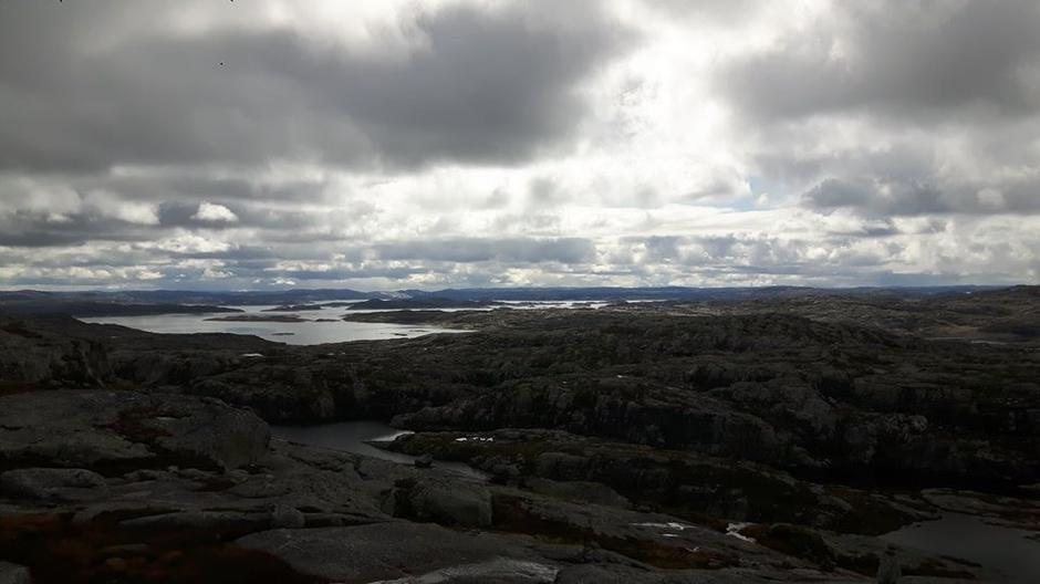 Utsikt mot Blåsjø.