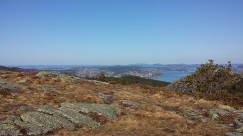 Utsikt nordover fra Olsokfjellet.