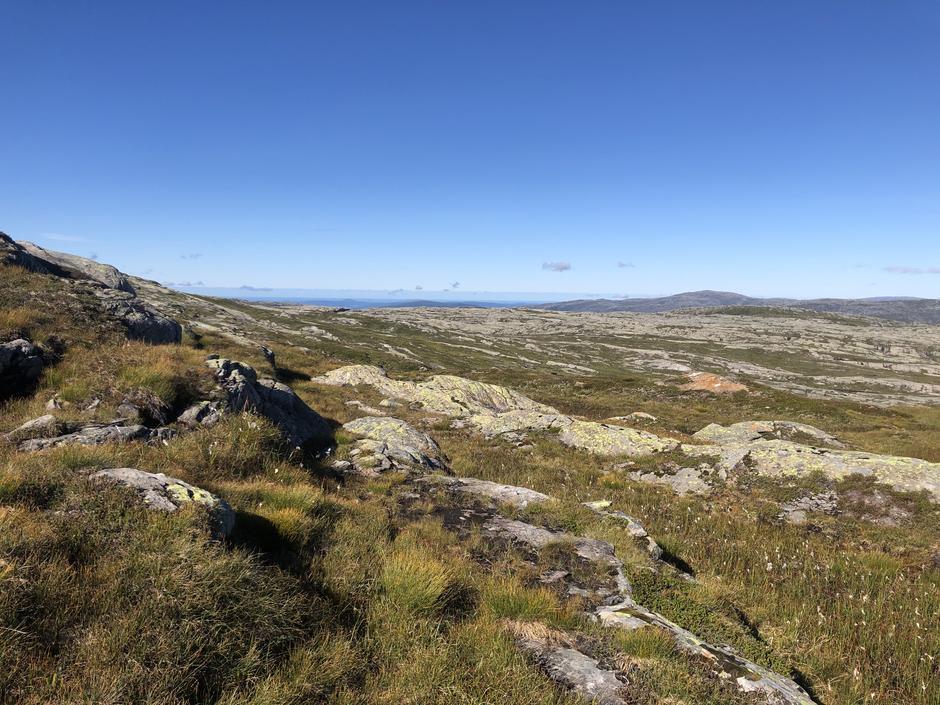 Utsikt vestover langs Gløvret