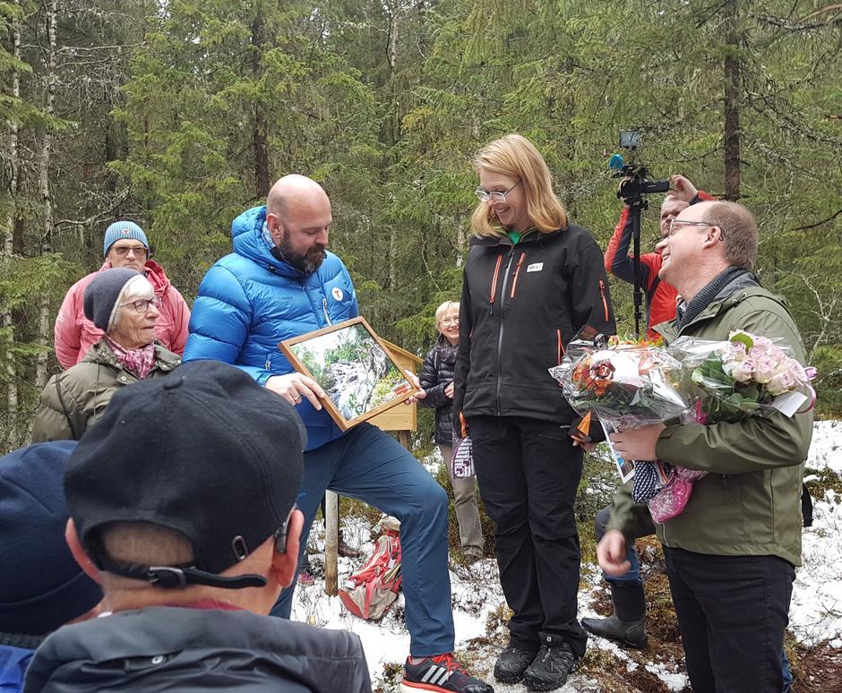 Ketil Kjenseth, Maren Esmark fra Naturvernforbundet og  Dag Terje Klarp Solvang  ny generalsekretær i Den Norske Turistforening.