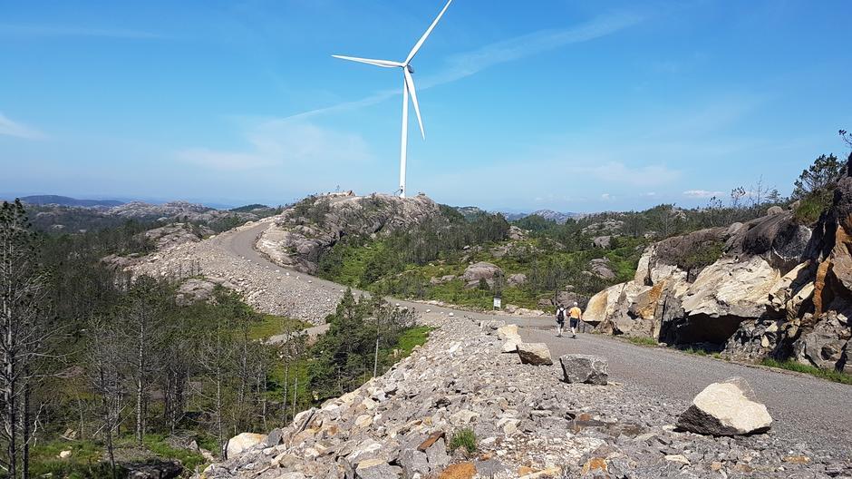 Egersund vindkraftanlegg, 2019.