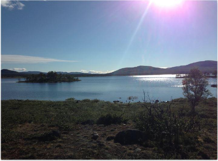 Foto fra Øyangen på vei til Oskampen i Langsua.