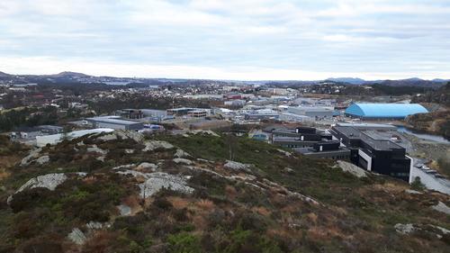 Utsikt fra Ebbesvikfjellet