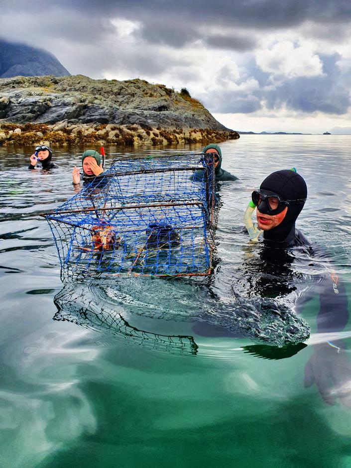 Fridykking under BaseCamp Kyst på Værlandet 2019