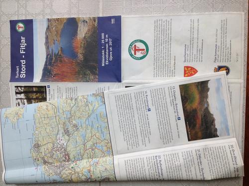 Mange flotte forslag på turer i kartet!