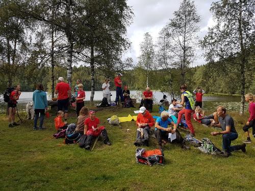 Pause ved Svartvannshytta 2019