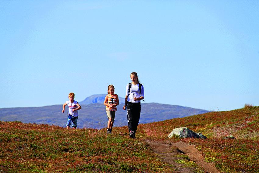 OVER BYEN: Like ved Tromsø ligger et lett tilgjengelige hyttenett.